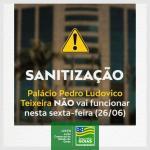 Atenção! Palácio Pedro Ludovico não funcionará na próxima sexta-feira (26)